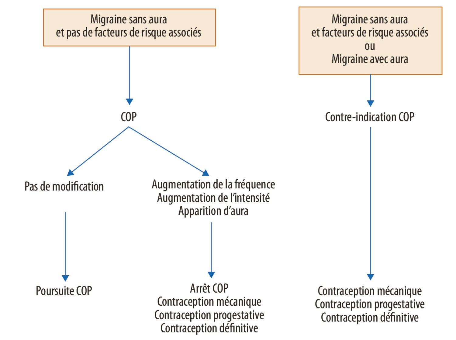 Contraception chez la patiente migraineuse - Figure