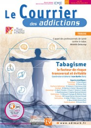 Le Courrier des Addictions / N° 1 mars 2017