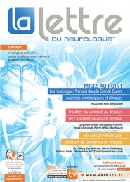 La Lettre du Neurologue / N° 7 septembre 2018