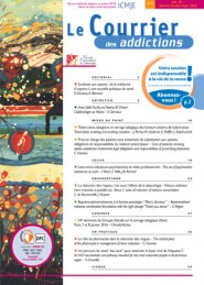 Le Courrier des Addictions / N° 1 mars 2016