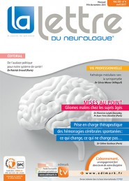 La Lettre du Neurologue / N° 4 avril 2017
