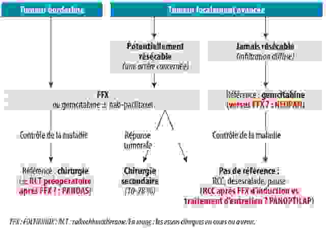 Cancer borderline localement avancé : traitement d'induction, place de la radiothérapie et de la résection secondaire - Figure 1